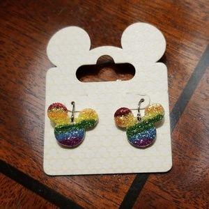 Rainbow Mickey Mouse Earrings Disney World